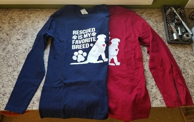 long sleeve rescued shirts
