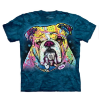 Colorful Bulldog T Shirt