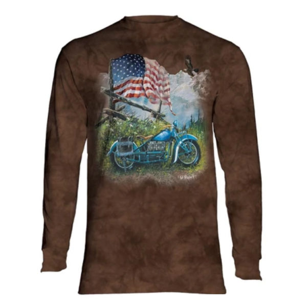 Biker Americana Long Sleeve Shirt