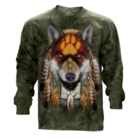 Native Wolf Long Sleeve T Shirt