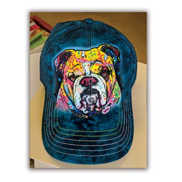 Bulldog Baseball Hat available at Animal Care Sanctuary