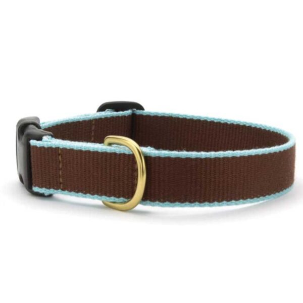 Green Market Brown and Aqua Dog Collar available at Animal Care Sanctuary