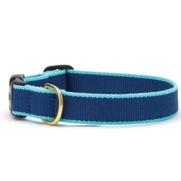 Green Market Navy and Aqua Dog Collar at Animal Care Sanctuary