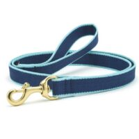 Navy and Aqua Leash available at Animal Care Sanctuary