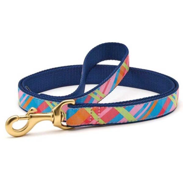 Pink Madras Leash Available at Animal Care Sanctuary