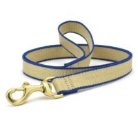 Tan and Royal Blue Leash available at Animal Care Sanctuary