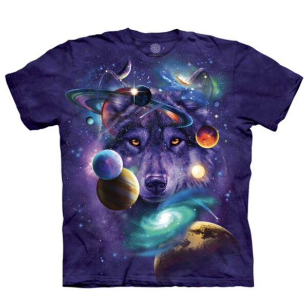 Wolf of the Cosmos T-shirt available at Animal Care Sanctuary