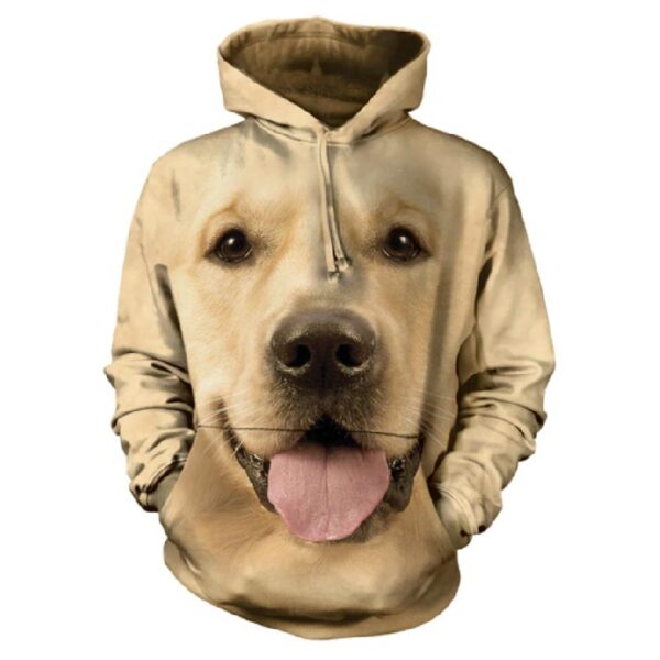 Golden Lab Hoodie available at Animal Care Sanctuary