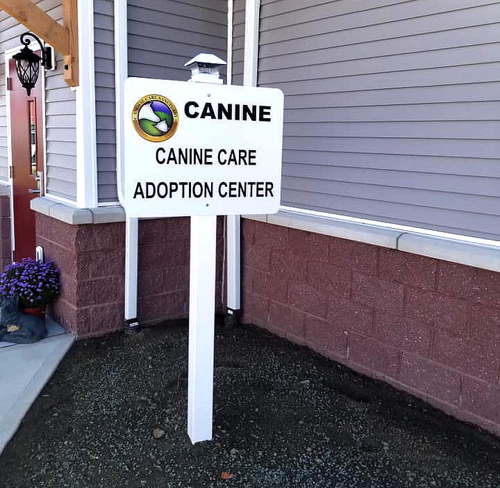 Canine Care Sign at Animal Care Sanctuary
