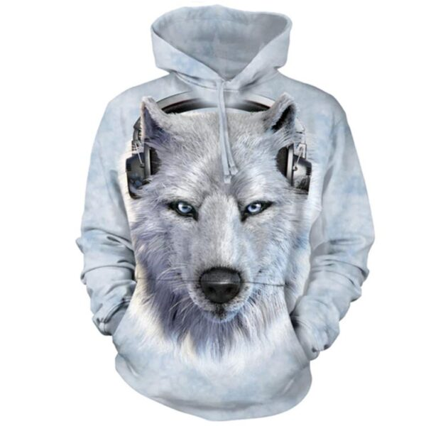 White Wolf DJ Hoodie available at Animal Care Sanctuary in East Smithfield, PA