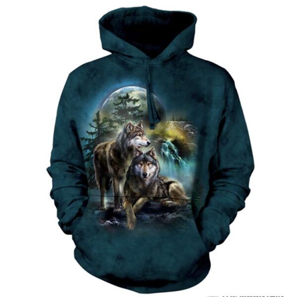 Wolf Lookout Hoodie available at Animal Care Sanctuary