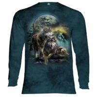 Wolf Lookout Long Sleeve Shirt at Animal Care Sanctuary in East Smithfield, Pennsylvania