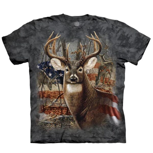 Patriotic Buck T shirt at Animal Care Sanctuary in East Smithfield, PA