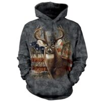 Patriotic Buck Hoodie available at Animal Care Sanctuary in East Smithfield, PA