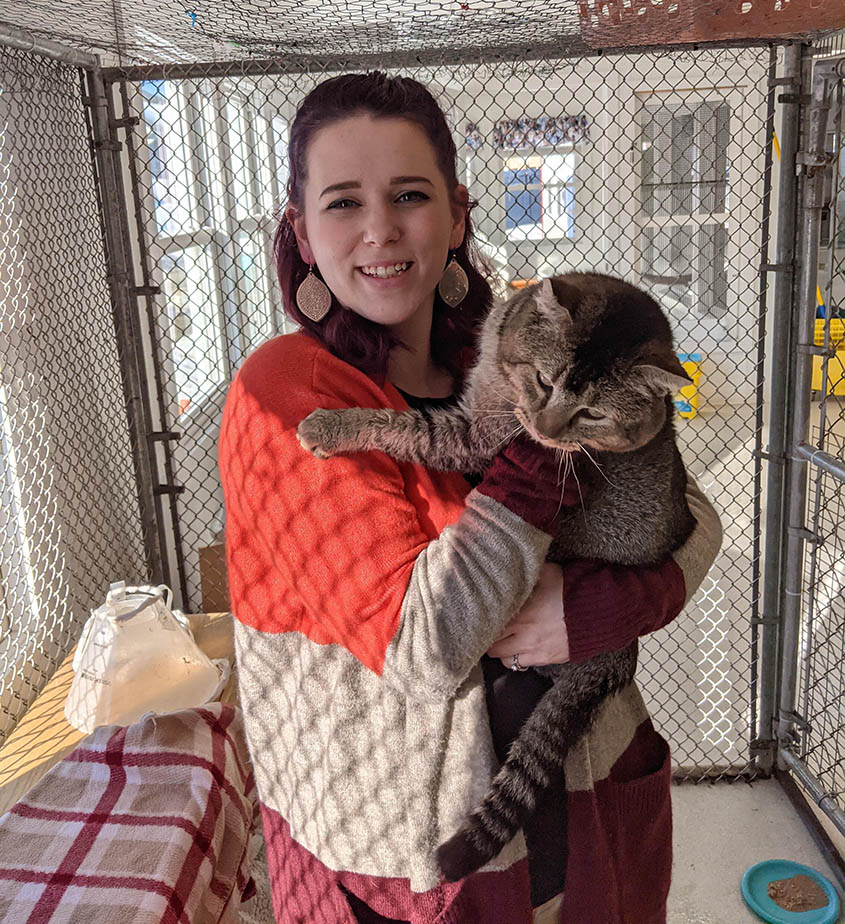 Becca with Cat