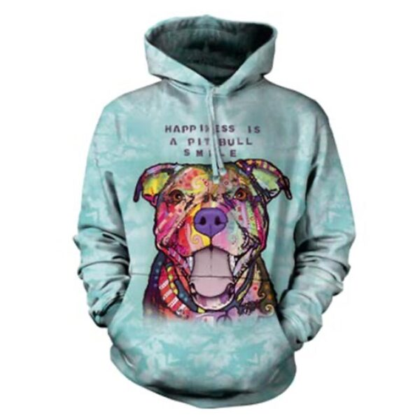 Happiness is a Pit Bull Smile hoodie - Dean Russo Design
