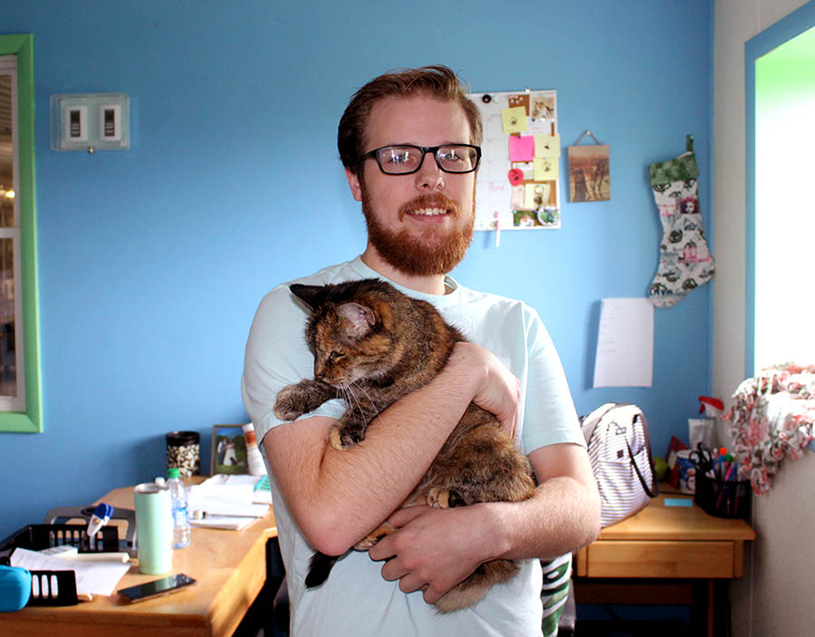 Ron Baxter - Cattery Worker at Animal Care Sanctuary in East Smithfield Pennsylvania